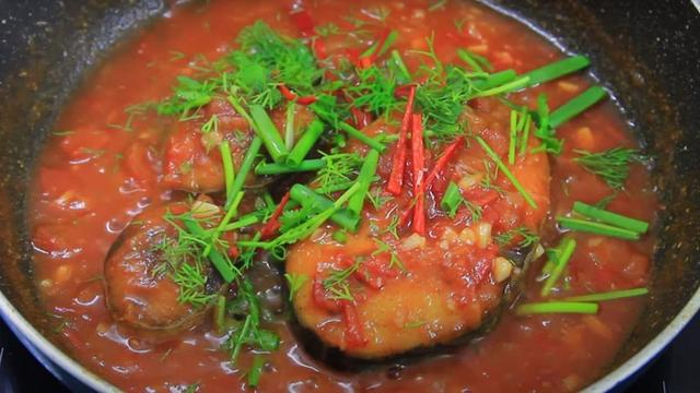 Cá thu chiên sốt cà chua