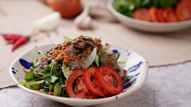 Gỏi thịt bò rau càng cua