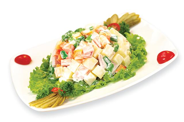 Salad rau củ trộn sốt mayonnaise